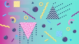 vector backgrounds - a rich collection (vector pack) of beautiful shapes and modern color palettes - Geometric Shapes Vector background