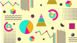 vector backgrounds - a rich collection (vector pack) of beautiful shapes and modern color palettes - Vector Background with Chart Elements