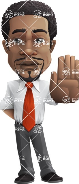 African American male character with a black hair - Vector pack of poses - GraphicMama's Bestseller  - Stop
