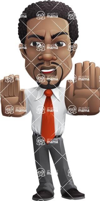 African American male character with a black hair - Vector pack of poses - GraphicMama's Bestseller  - Stop2