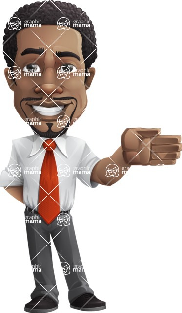 African American male character with a black hair - Vector pack of poses - GraphicMama's Bestseller  - Show