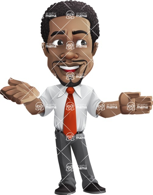 African American male character with a black hair - Vector pack of poses - GraphicMama's Bestseller  - Show2