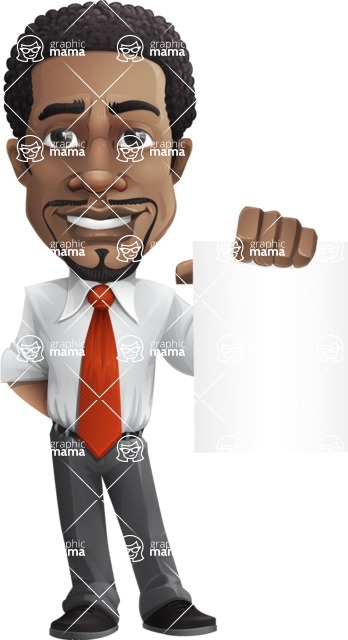 African American male character with a black hair - Vector pack of poses - GraphicMama's Bestseller  - Sign4