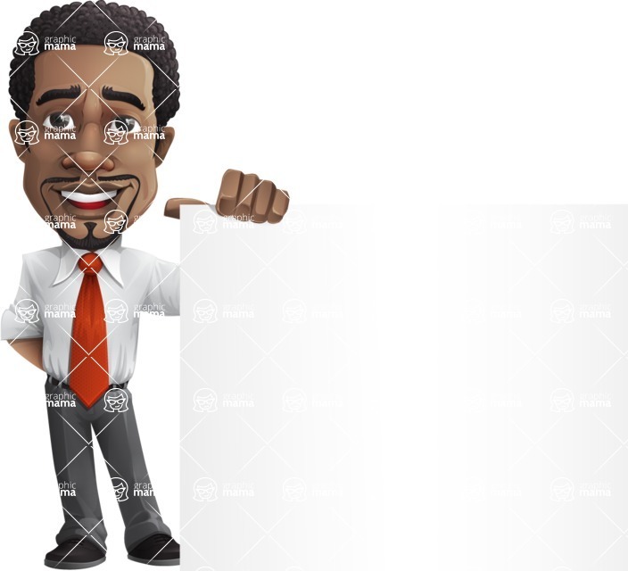 African American male character with a black hair - Vector pack of poses - GraphicMama's Bestseller  - Sign8