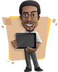 African American male character with a black hair - Vector Illustrations - Shape5