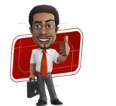 African American male character with a black hair - Vector Illustrations - Shape10