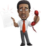 African American male character with a black hair - Vector Illustrations - Office Fever