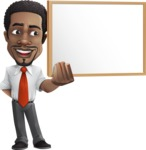 African American male character with a black hair - Vector Illustrations - Presentation1