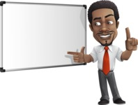 African American male character with a black hair - Vector Illustrations - Presentation5