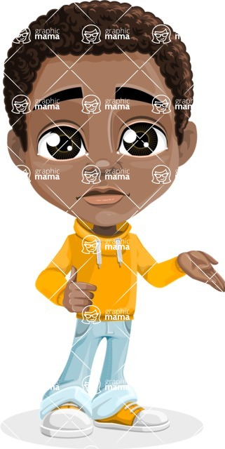 Jorell the Playful African American Boy - Sorry