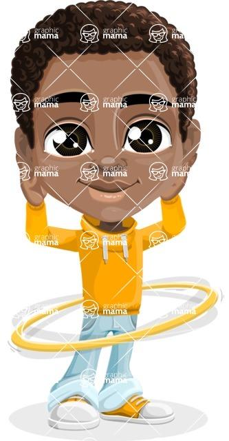 Jorell the Playful African American Boy - Hoop