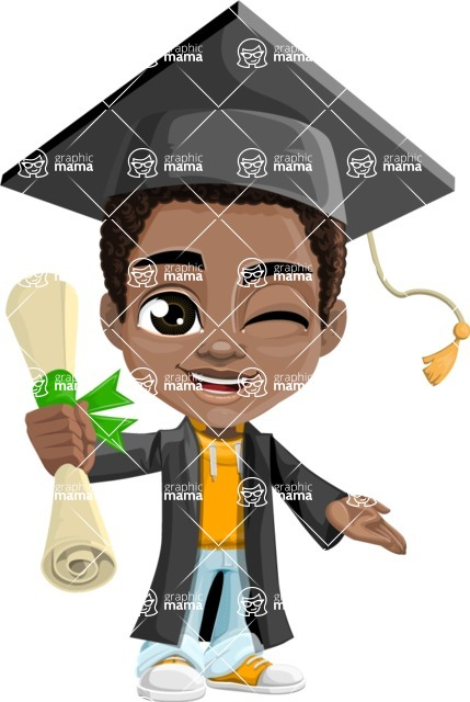 Jorell the Playful African American Boy - Graduate