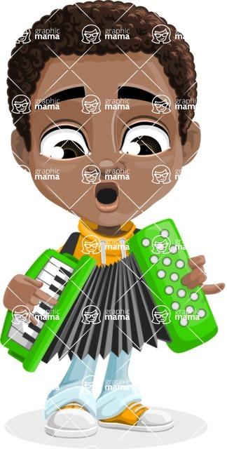 Jorell the Playful African American Boy - Music 2