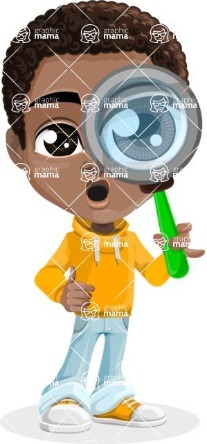 African American School Boy Cartoon Vector Character AKA Jorell - Search