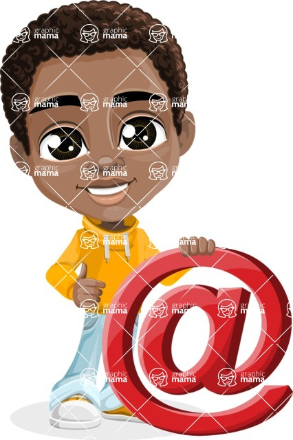 Jorell the Playful African American Boy - Mail