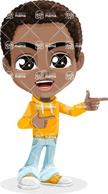 Jorell the Playful African American Boy - Point