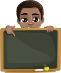 African American School Boy Cartoon Vector Character AKA Jorell - Presentation 5