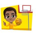 African American School Boy Cartoon Vector Character AKA Jorell - Shape 3