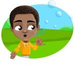 African American School Boy Cartoon Vector Character AKA Jorell - Shape 4