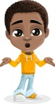 African American School Boy Cartoon Vector Character AKA Jorell - Lost