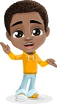 African American School Boy Cartoon Vector Character AKA Jorell - Lost 2
