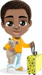 African American School Boy Cartoon Vector Character AKA Jorell - Travel