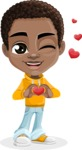 Jorell the Playful African American Boy - Show Love