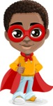 African American School Boy Cartoon Vector Character AKA Jorell - Supergirl