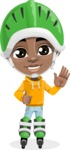 Jorell the Playful African American Boy - Blades