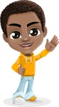 Jorell the Playful African American Boy - Wave