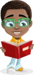 African American School Boy Cartoon Vector Character AKA Jorell - Book 1