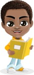 African American School Boy Cartoon Vector Character AKA Jorell - Book 2