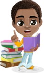 African American School Boy Cartoon Vector Character AKA Jorell - Book