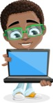 Jorell the Playful African American Boy - Laptop 1