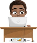Jorell the Playful African American Boy - Laptop 3
