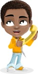 African American School Boy Cartoon Vector Character AKA Jorell - Homeline