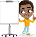 African American School Boy Cartoon Vector Character AKA Jorell - Presentation 2