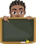 Cute African American Boy Cartoon Vector Character AKA Mason the Cool Boy - Presentation 5