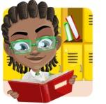 Cute African American Boy Cartoon Vector Character AKA Mason the Cool Boy - Shape 2