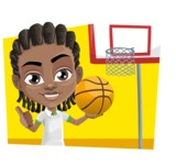 Cute African American Boy Cartoon Vector Character AKA Mason the Cool Boy - Shape 3