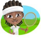 Cute African American Boy Cartoon Vector Character AKA Mason the Cool Boy - Shape 4