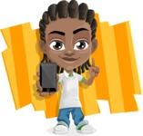 Cute African American Boy Cartoon Vector Character AKA Mason the Cool Boy - Shape 8