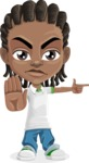 Cute African American Boy Cartoon Vector Character AKA Mason the Cool Boy - Direct Attention