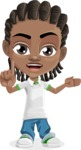 Cute African American Boy Cartoon Vector Character AKA Mason the Cool Boy - Direct Attention 2