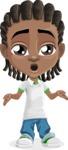 Cute African American Boy Cartoon Vector Character AKA Mason the Cool Boy - Lost