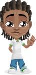 Cute African American Boy Cartoon Vector Character AKA Mason the Cool Boy - Goodbye