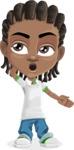 Cute African American Boy Cartoon Vector Character AKA Mason the Cool Boy - Oops