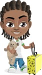 Cute African American Boy Cartoon Vector Character AKA Mason the Cool Boy - Travel