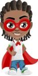 Cute African American Boy Cartoon Vector Character AKA Mason the Cool Boy - Supergirl