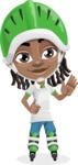 Cute African American Boy Cartoon Vector Character AKA Mason the Cool Boy - Blades